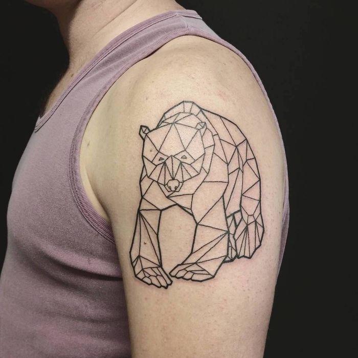 les 25 meilleures id es de la cat gorie tatouages ours sur pinterest tatouages v g taux sens. Black Bedroom Furniture Sets. Home Design Ideas