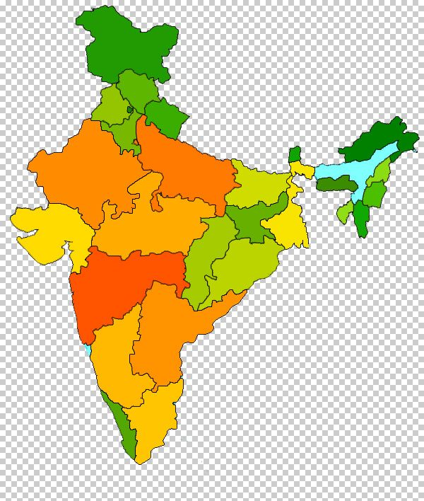 india map outline colour | Map of India With States | Pinterest ...