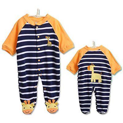 Hibote Costumi Neonato Bambina Bambino del bambino del fumetto Outfit pagliaccetto infantile Tutina, 0-3 mesi