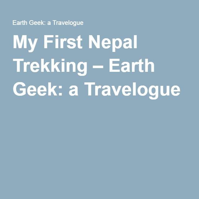 My First Nepal Trekking – Earth Geek: a Travelogue