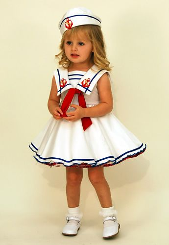 patriotism baby pageant wear | to babies 3522 baby sailor a great nautical white ottomen dress infant ...