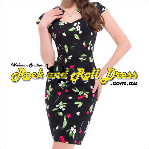 Bridgette cherry rockabilly rock n roll swing dress S-XL