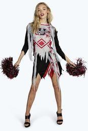 Boohoo €34 Creepy Rebecca Zombie Cheerleader Fancy Dress