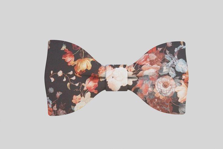 Men Fashion Accessories Patterns Bow tie Floral Pattern Men s