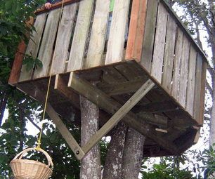How to build treehouse and step by step on pinterest for How to make a treehouse step by step