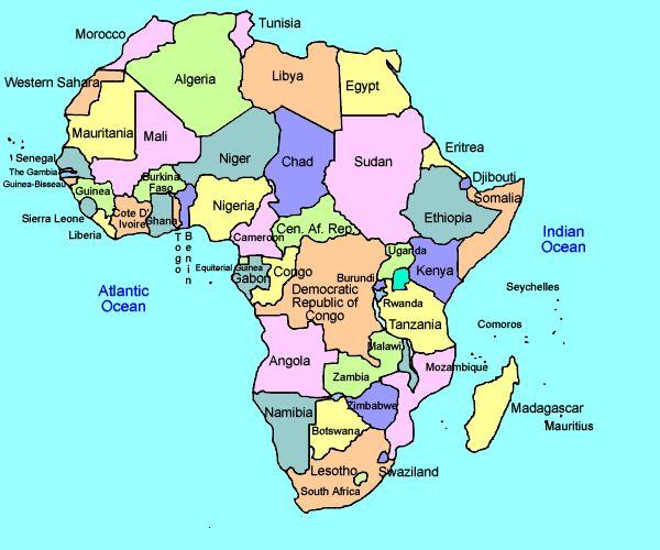 Map Of Africa Ks2 Deboomfotografie