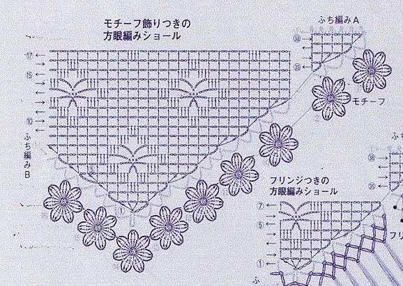 ch le noir orn d 39 une bordure de fleurs et sa grille gratuite au crochet le blog de anne. Black Bedroom Furniture Sets. Home Design Ideas