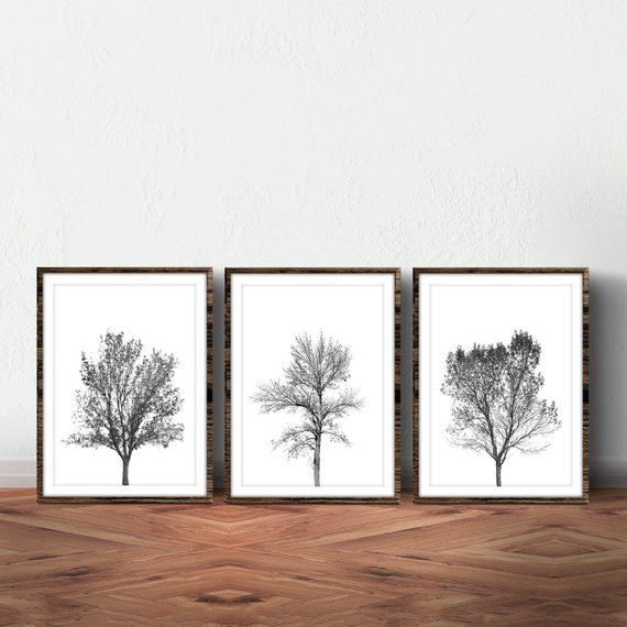 Printable Wall Art Is An Affordable Way To Personalize Your Home Or Office Get This Set Of 3 Black And White Photo Wall Art Tree Wall Art Black And White Tree