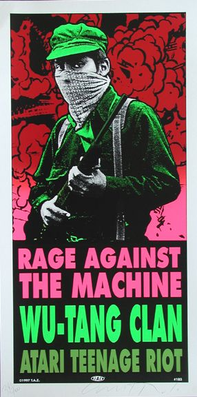 Rage Against the Machine / Wu Tang Concert Poster