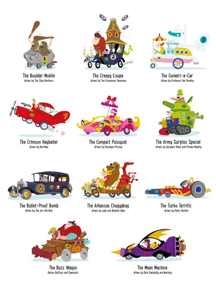 Wacky Races by Charly Lane