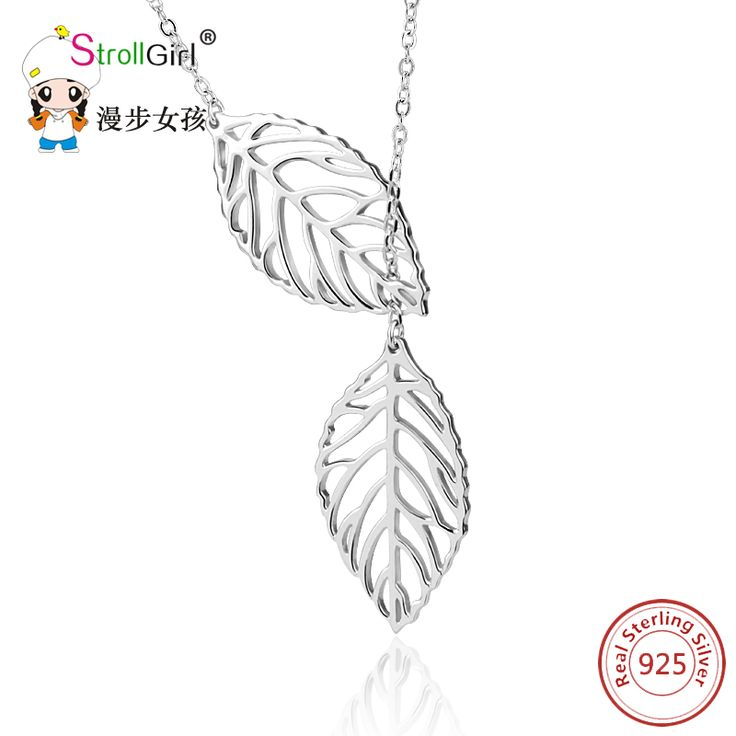 2017 New Arrival Design 925 Sterling Silver Tree Leaf Necklace For Women Gift Fashion Pendant Setrling Silver jewelry StrollGirl-in Pendant Necklaces from Jewelry & Accessories on Aliexpress.com | Alibaba Group