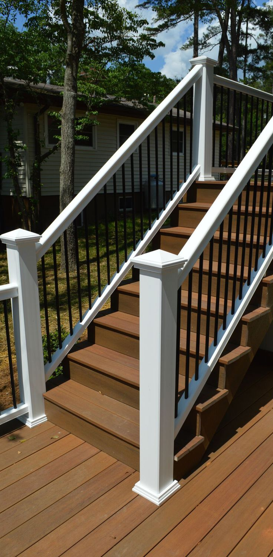 17 best images about fiberon railing on pinterest shops for Garden decking banister