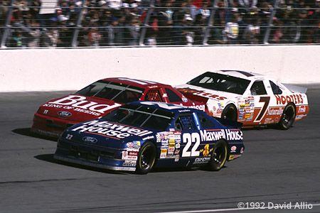 Atlanta Motor Speedway 1992 Sterling Marlin Bill Elliott Alan Kulwicki