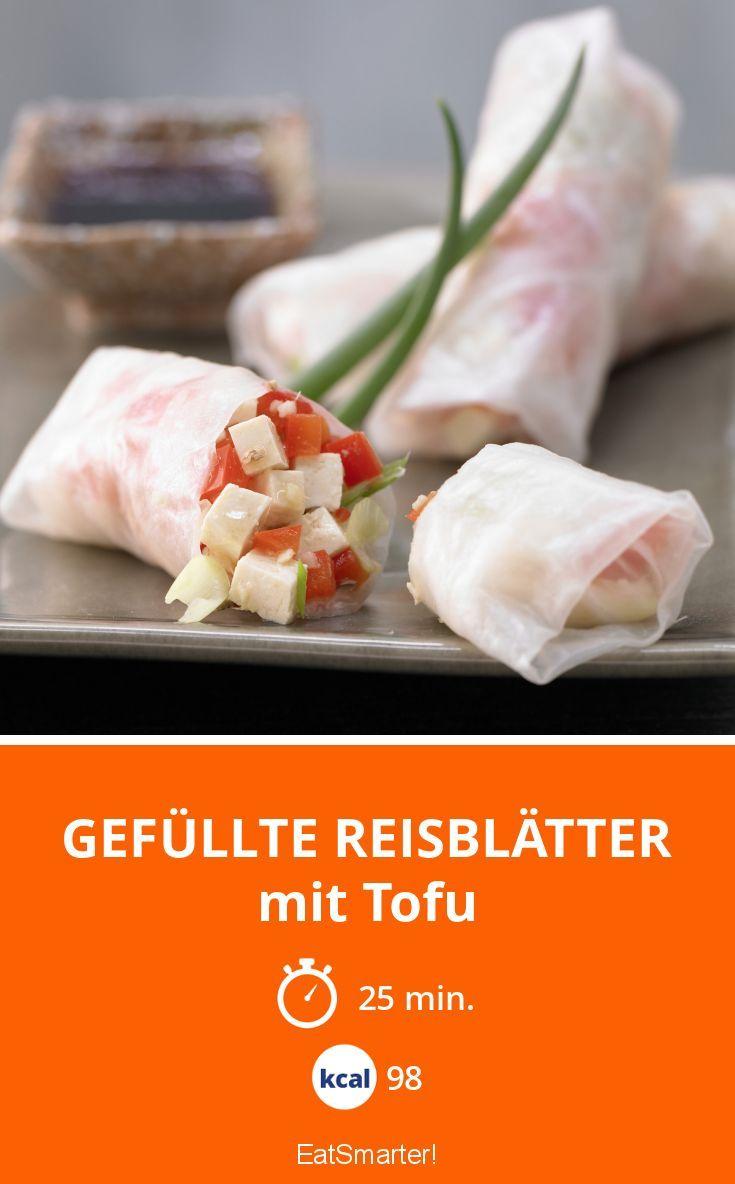 Gefüllte Reisblätter - mit Tofu - smarter - Kalorien: 98 Kcal - Zeit: 25 Min. | eatsmarter.de