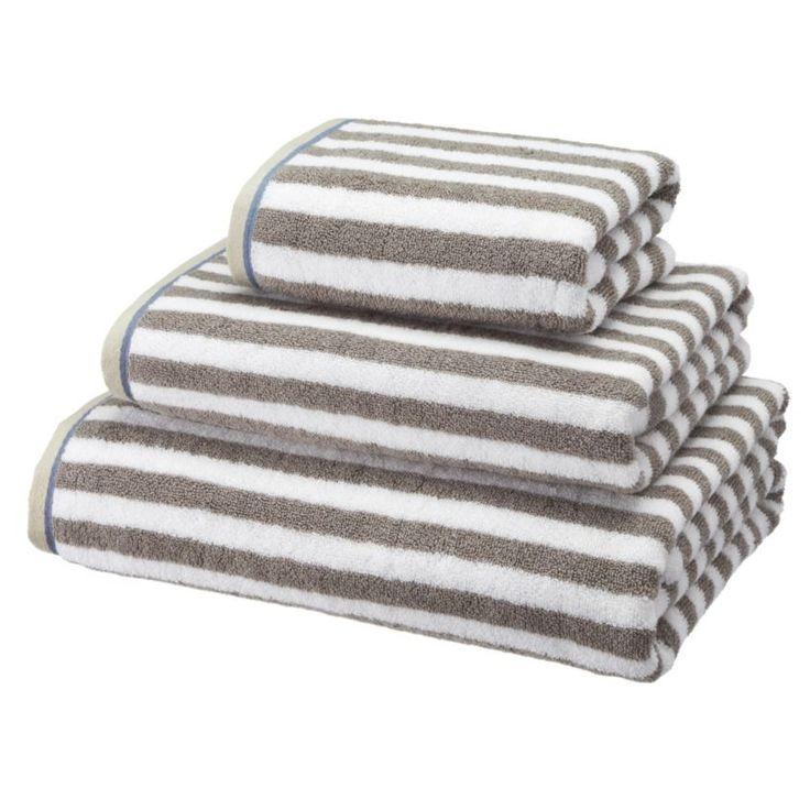 by sainsbury 39 s rustic grey stripe towels towels towels. Black Bedroom Furniture Sets. Home Design Ideas