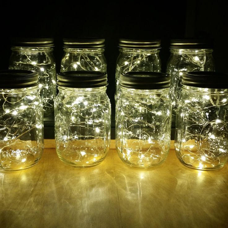 8 Firefly Lights And Mason Jar Centerpieces Wedding Centerpieces Fairy  Lights Vintage Lights Wedding Rustic Wedding Mason Jar Lights