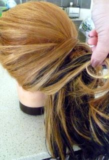 How-to: curly side ponytail