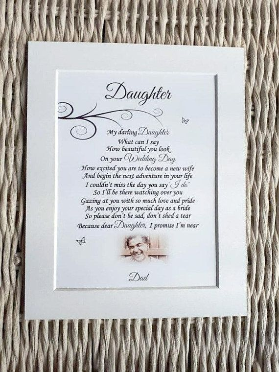 Daughter S Wedding Day Letter From Dad In Heaven Etsy Wedding Gift Cards Wedding Memorial Father Of The Bride
