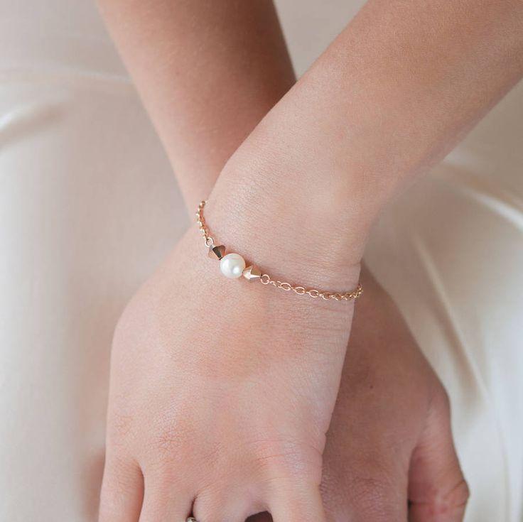Purity Pearl Rose Gold Plated Swarovski Bracelet