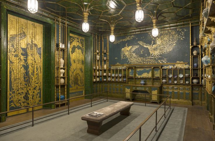 Interested in learning more about the Peacock Room? Explore Whistler's imaginative interior at the Freer Gallery of Art in Washington, DC. http://www.asia.si.edu/exhibitions/current/peacockRoom.asp F1904.61