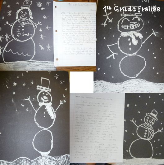 4th Grade Frolics: SnowMAN CAME TO LIFE WRITING