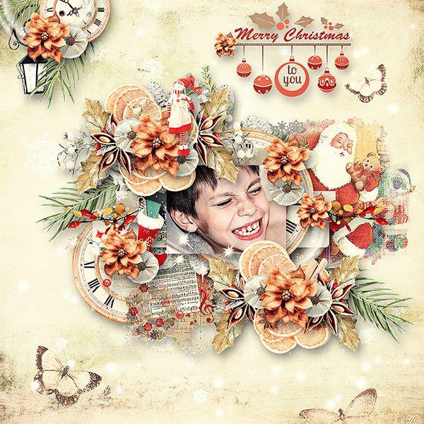 The Soft Christmas by Manue Designs template Enter Snow Part3 by Eudora Designs