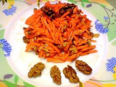 Przepisy potrawy w czasie Wielkiego Postu!surówka z marchewki i orzechów z miodem