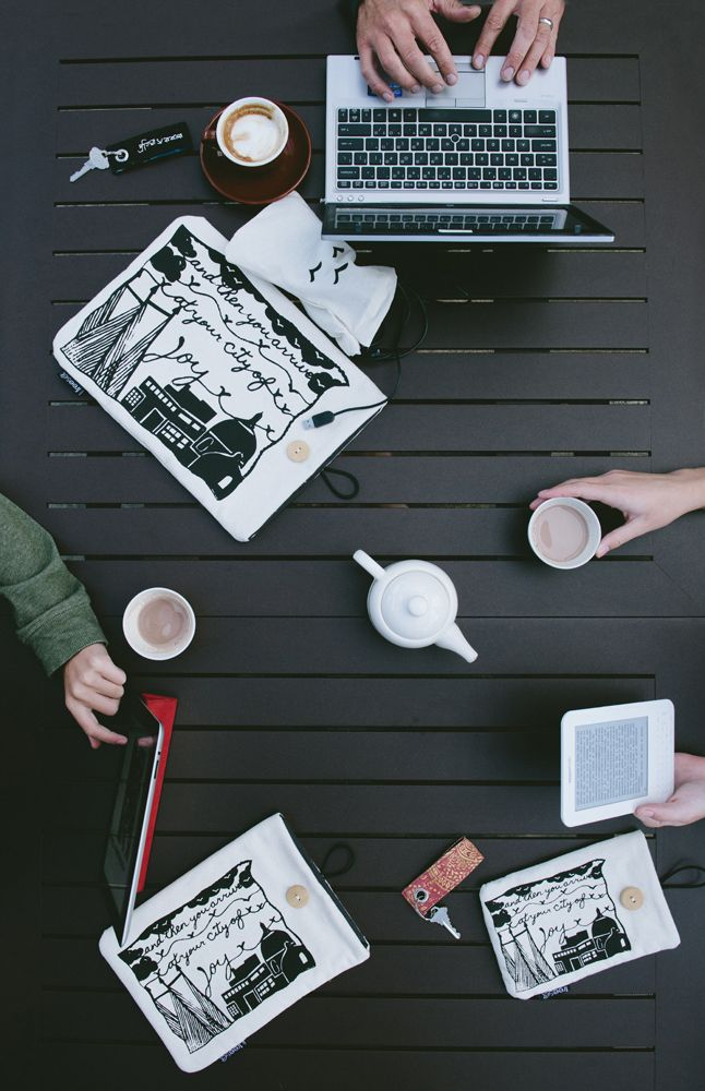 The City of Joy print is featured on Freeset's laptop ,iPad and eReader sleeves for 2014.   Photo by Calvina Photography