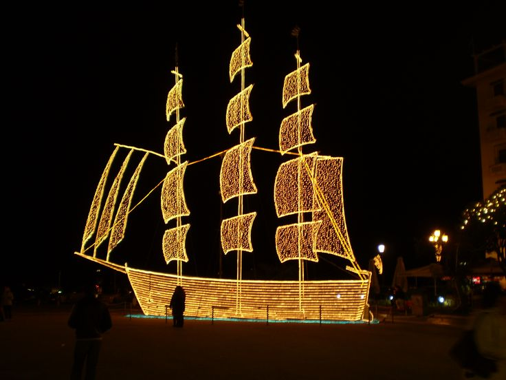 Traditionally, in Greece we decorate a boat for Christmas!! A homage for all the Greek sailors travelling all around the world!