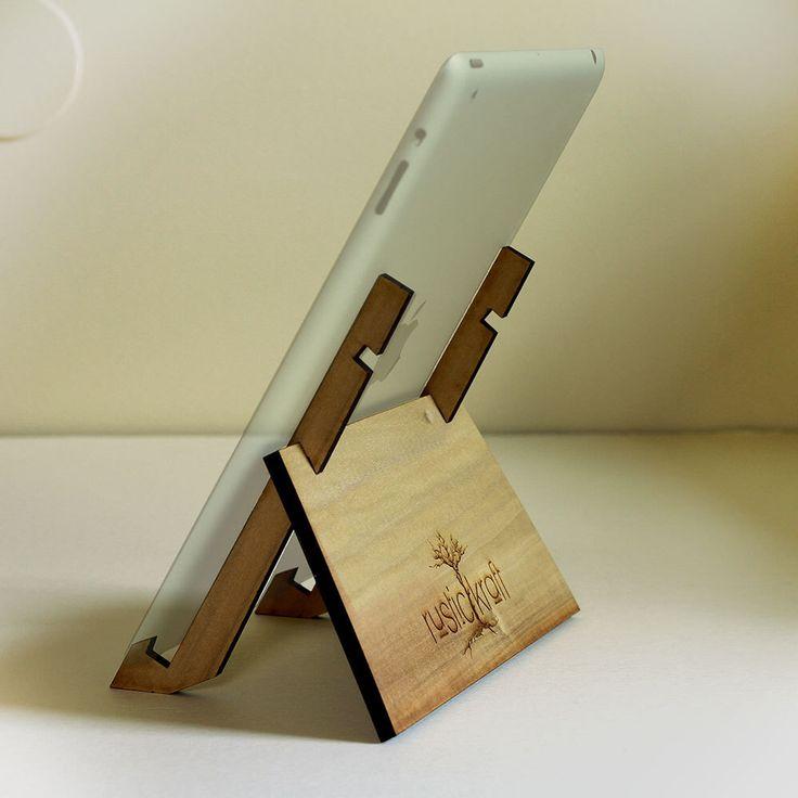 Ipad Stand/ Wood Ipad Stand/ Ipad Mini Stand/ Portable Ipad Stand/ Simple Ipad Stand/ Engraved Ipad Stand/ Custom Ipad Stand/ Ipad dock by RusticKraft on Etsy https://www.etsy.com/listing/161355945/ipad-stand-wood-ipad-stand-ipad-mini