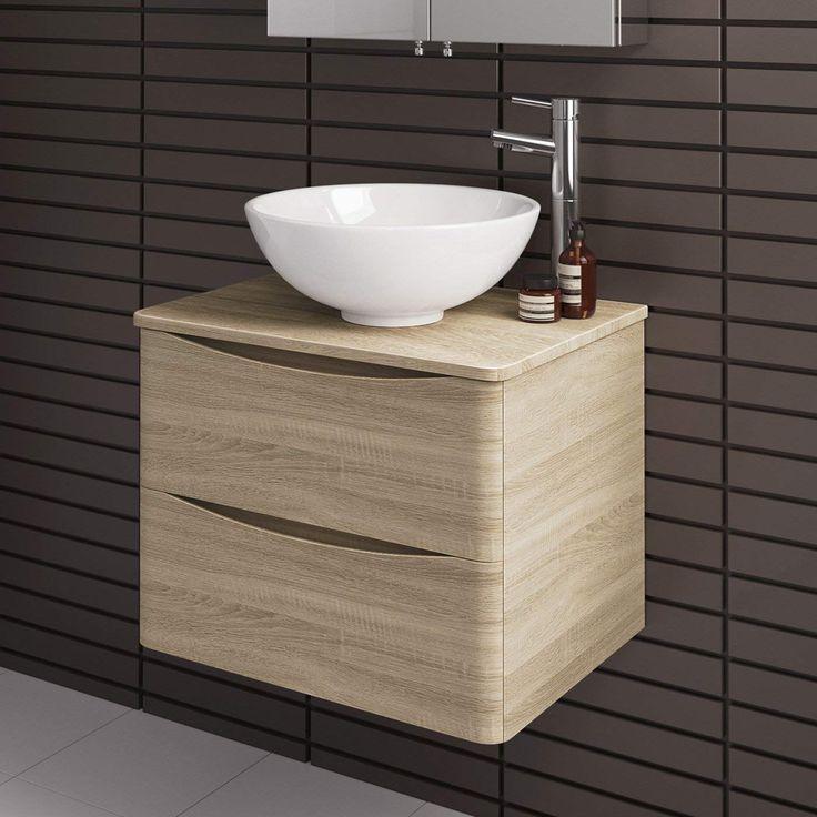 Modern 600 mm Bathroom Furniture Countertop Basin Storage ...