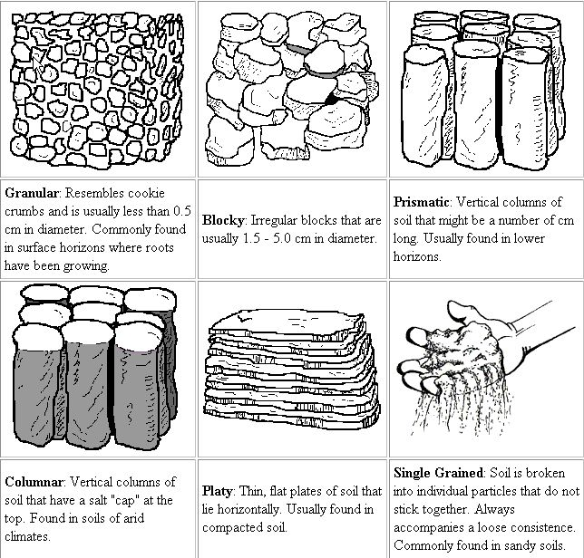Types of Soil Structures in Soils