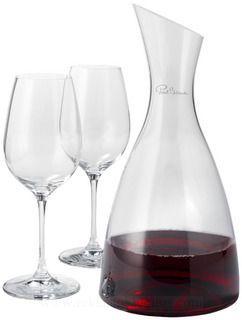 Veinikarahvin ja 2 veiniklaasi - http://www.reklaamkingitus.com/et/joogiklaasid/
