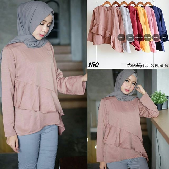 ㅤㅤ  Ready A150 Rp56  bahan balotelly  seri 6 warna  ld 100  pjg 66-80  ㅤ  Contact us for more detail  line: @ konveksi.hijab (pakai tanda @ yah)  WA: 0858 8533 3907  store location: PGMTA lantai LG blok B no.176  ㅤ  #onlineshopmurah #onlineshopping #onlineshopjakarta #trustedolshop   #tunik #tunic #atasan #atasanwanita