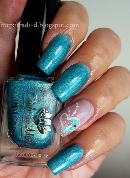 391 best nails art images on pinterest nail designs sexy nail its all about nails blue hearts valentine nail nails nailart prinsesfo Image collections