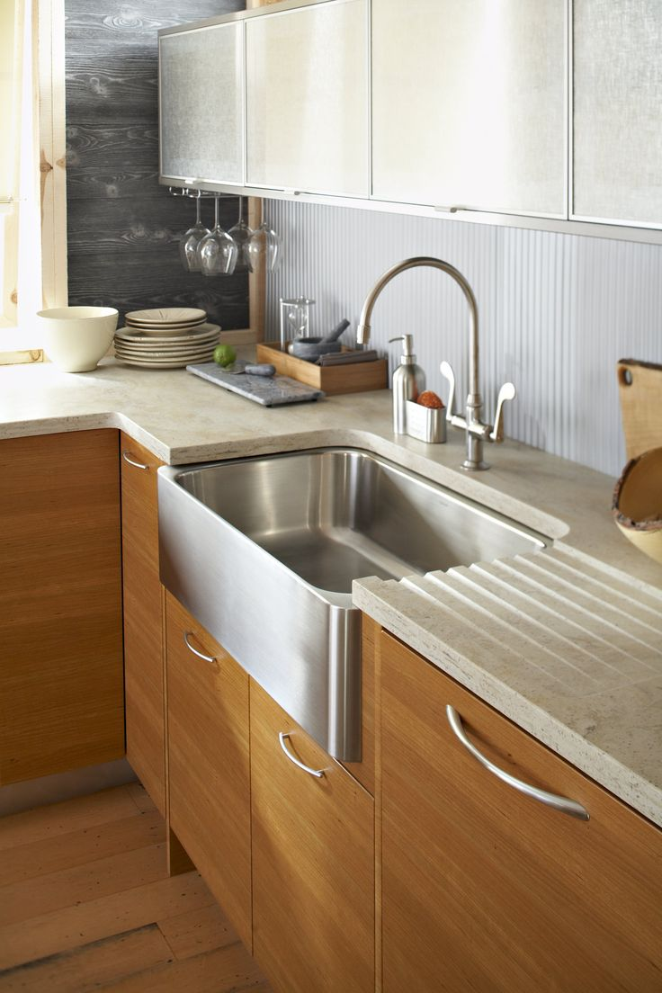 Corian burl contemporary kitchens countertops midwest for Corian farm sink price