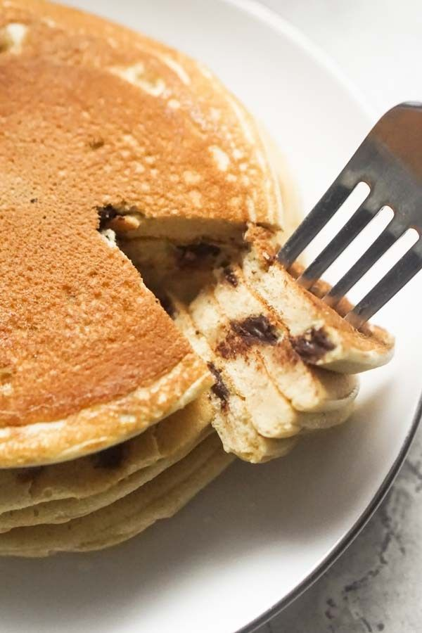 Low Carb Chocolate Chip Pancakes   Ketogenic Pancakes with Ricotta Cheese