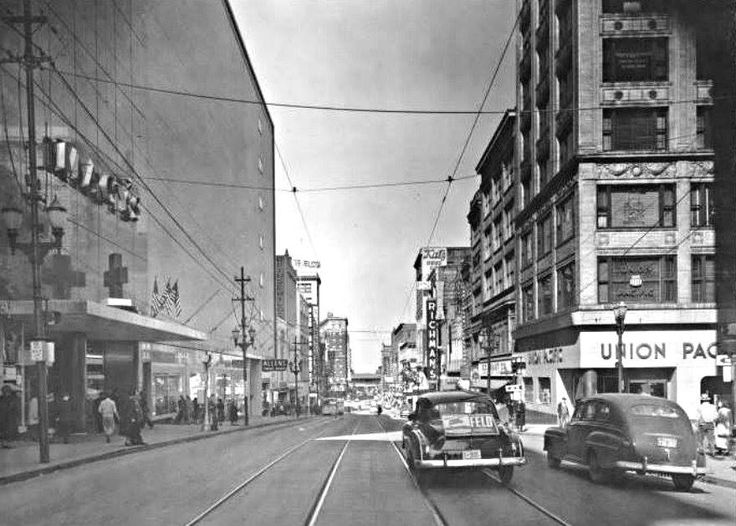 Main street at 11th 1950 kansas city then and now