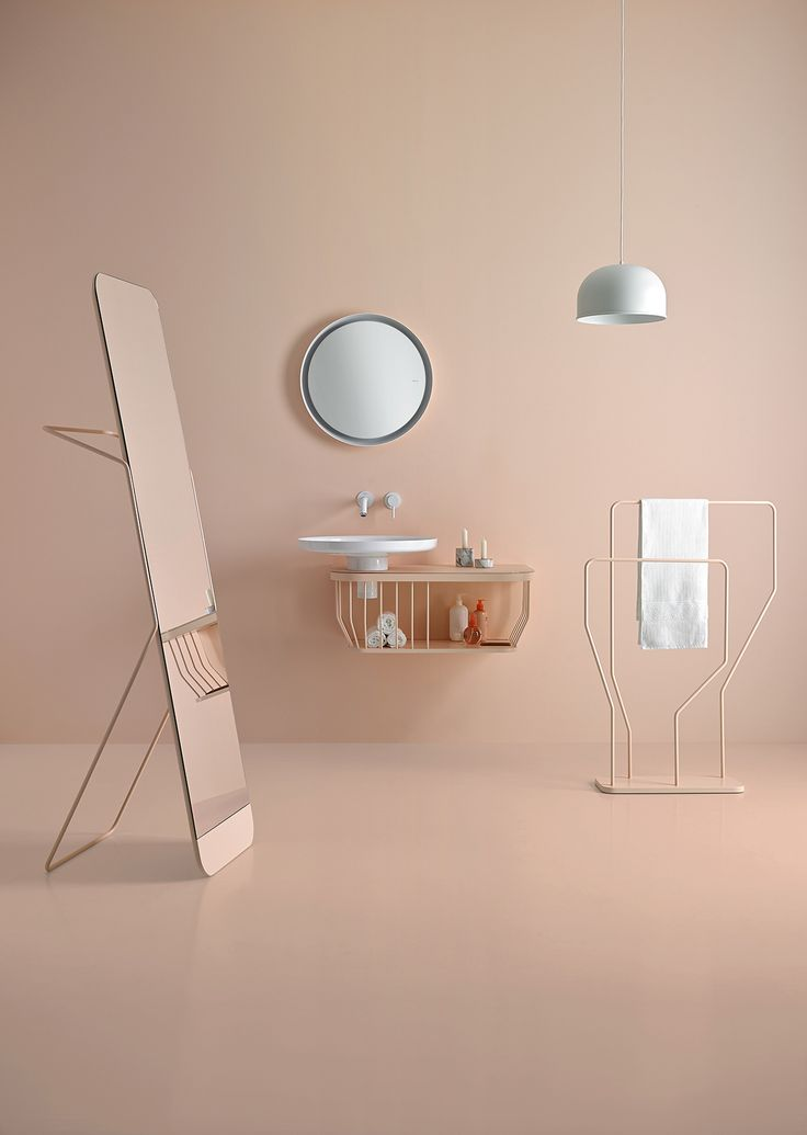 <p>Spanish design firm Odos Design created these inspirational vignettes to showcase Inbani's 2016 bathroom furniture collection.The art direction is focuses on these pastel colors and the geome