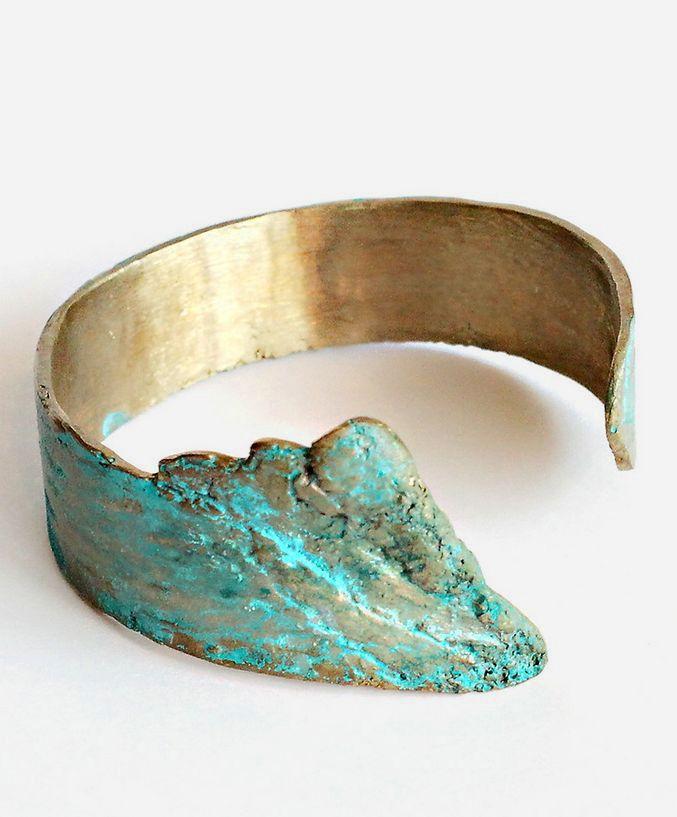 Patina Birch Brass Cuff