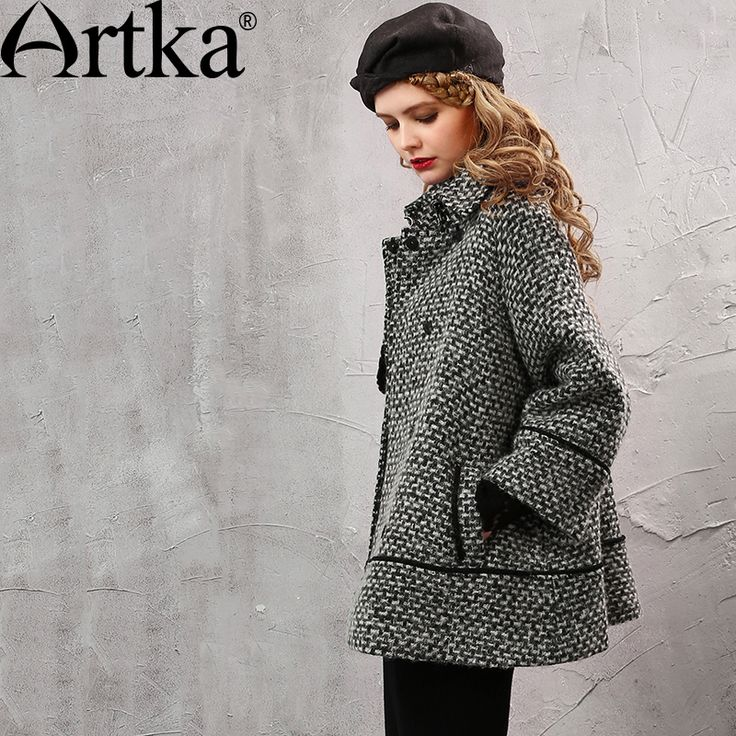 Find More Information about Artka Women's Autumn New Loose Style A Line Woolen Coat Vintage Turn down Collar Long Sleeve Single Breasted Coat WA11158Q,High Quality woolen coat,China breasted coat Suppliers, Cheap style coat from Artka on Aliexpress.com