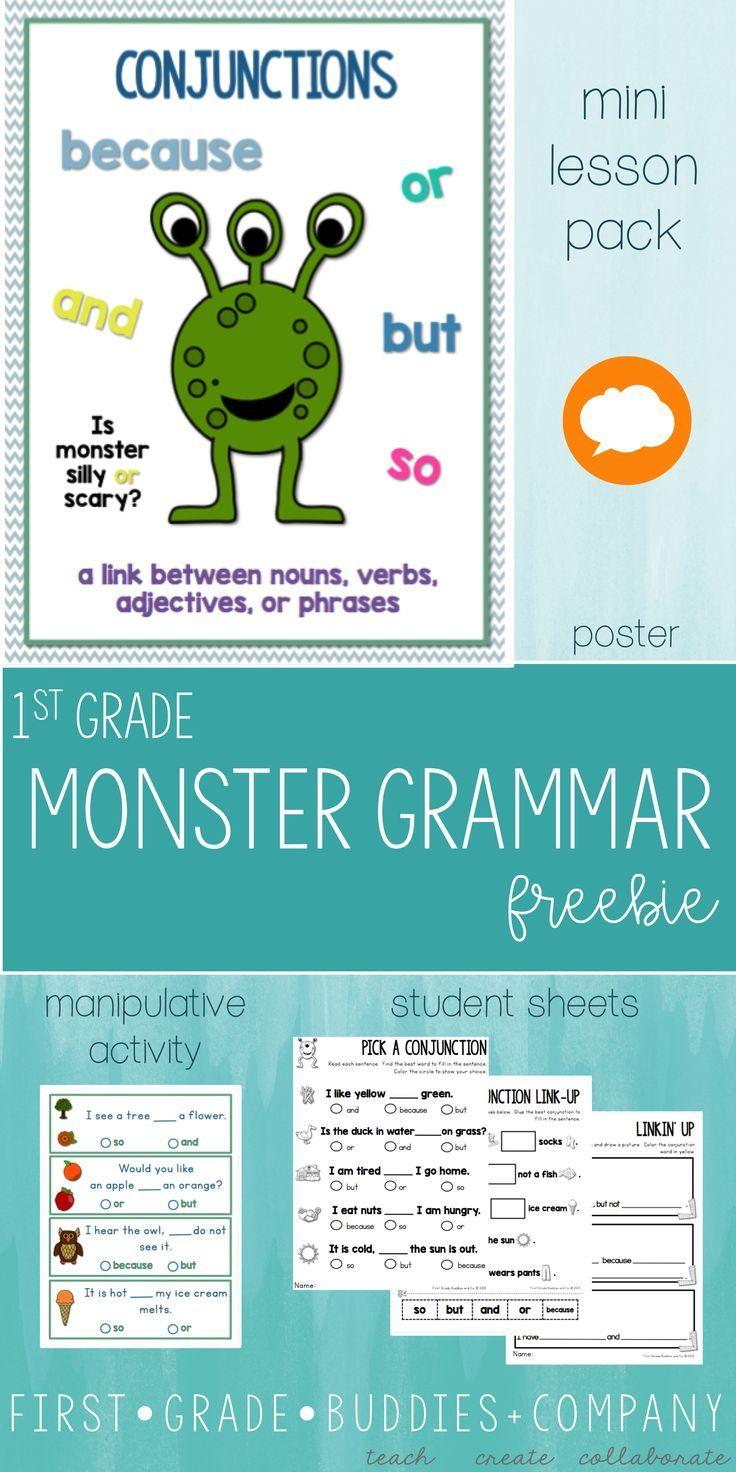 Conjunctions | 1st Grade Grammar | Mini Lesson | Grammar | Pinterest ...