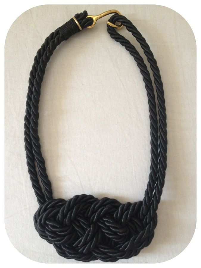 NEW-Satin-rope necklace with big knot in black! Ask for colors! MORE ON--> http://www.facebook.com/thefthing /  Κολιέ από σατέν σχοινί  σε Μαυρο χρώμα με μεγάλο κόμπο! Ρωτήστε για χρώματα!! Λεπτομέρειες στο --->http://www.facebook.com/thefthing