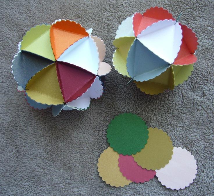 balls of paper circles ..