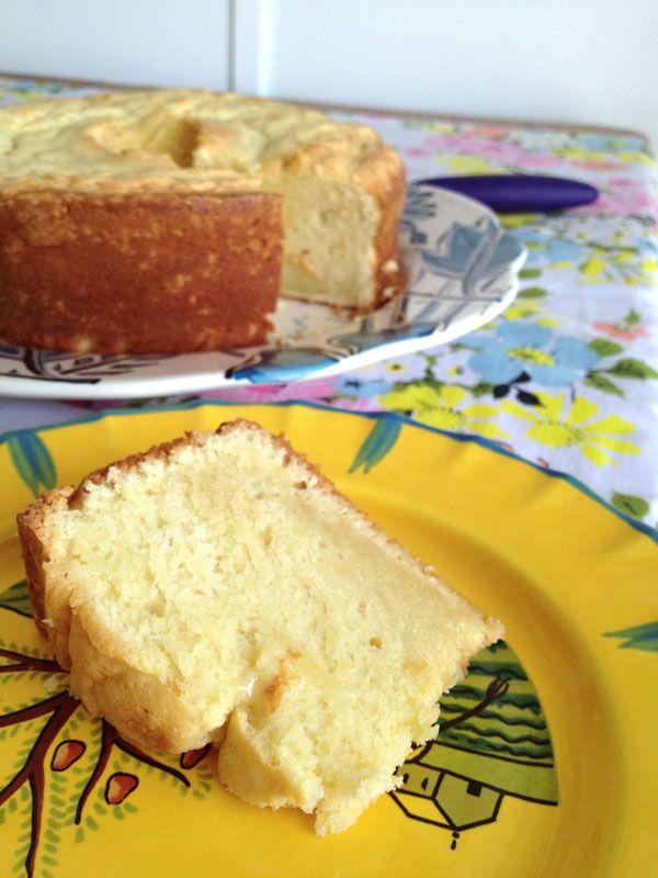 Grandma's Sour Cream-Almond Pound Cake from Contented Sparrow