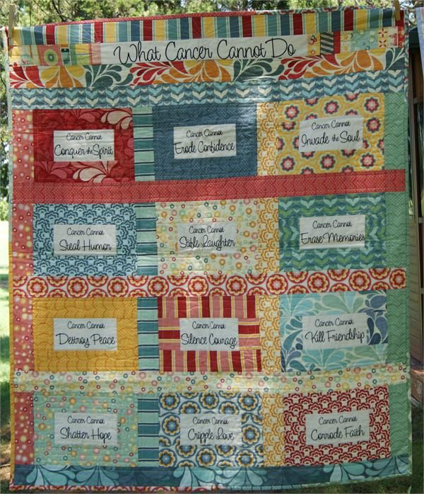 Say It With Words What Cancer Cannot Do Fabric Panel