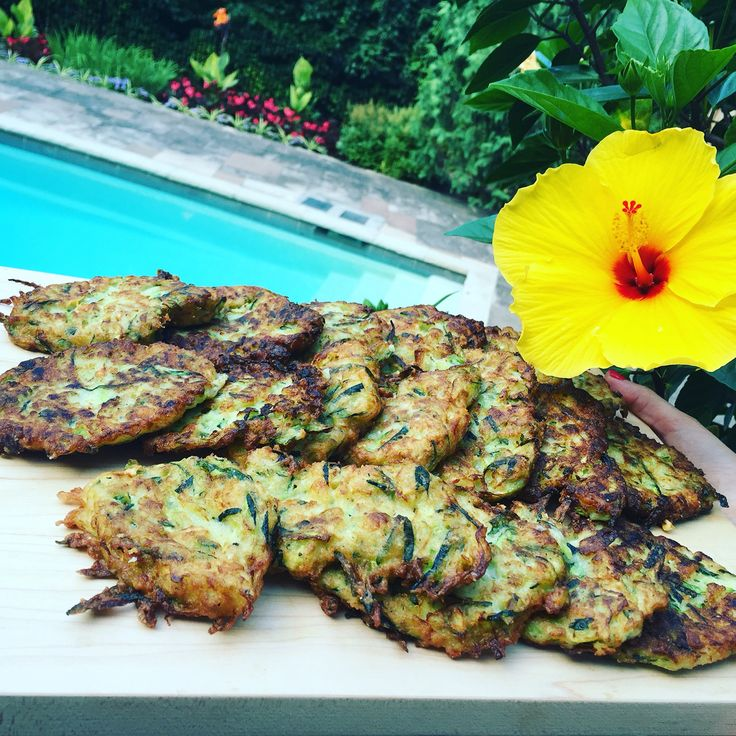 Yes, we all have a glut of zucchini and these fritters are just the best so grate a few zucchini and fry away