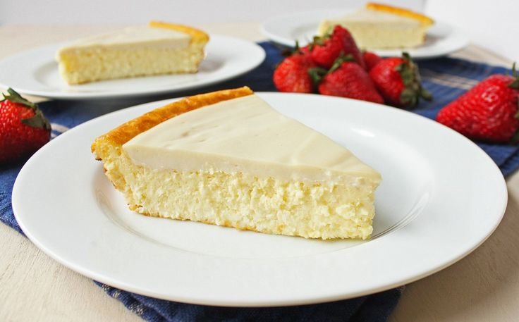 Grandma's Crustless Cheesecake....healthy alt! :)Sour Cream, Crustless Cheesecake, Healthier Recipe, Cooking, Gluten Free, Grandma Crustless, Cheesecake Recipes, Healthy Cheesecake, Cheesecake Crustless
