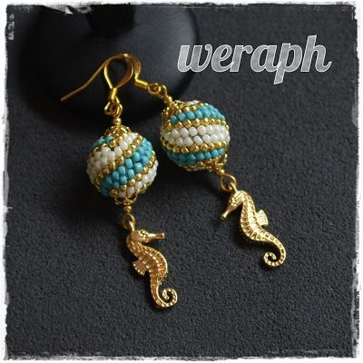 Sea horses in earrings