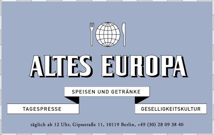 Altes Europa. Dinner